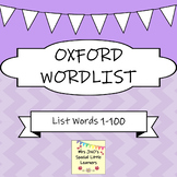 Oxford 1-100 Word List Flash Cards ~ Purple Set