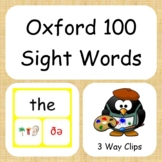 Oxford 100 Sight Words 3 Way Clipart Images