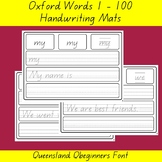 Oxford 100 Word List Queensland QLD Font Writing Word Mat List Home Online Learn