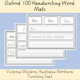 Oxford 100 High Frequency Words Handwriting Worksheets List VIC WA NT Font