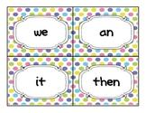 Oxford 100 sight words flash cards - cute polka dots