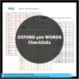 Oxford 500 Words - Achievement Checklists