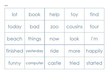 Oxford 500 Words - Flash Cards / Grids