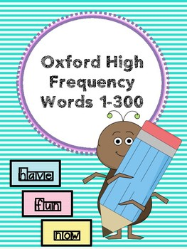 Oxford High Frequency Words