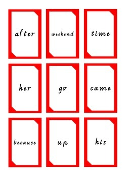 Oxford High Frequency Words 41-50 Uno