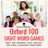 Oxford 100 Sight Word Games: Bingo, Dominoes, UNO, and More (First Hundred)