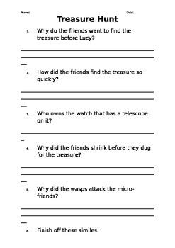 Oxford Literacy Team X L12-17 Treasure Hunt