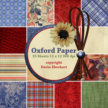 Oxford Printable Digital Paper