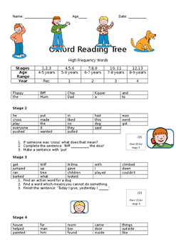 Oxford Reading Tree Reading Assessment (Unofficial)