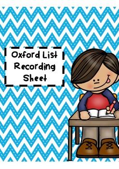 Oxford Recording List