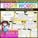 Oxford Sight Word Activities - Book 3