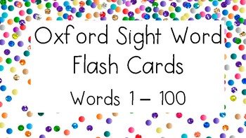 Oxford Sight Word Flash Cards