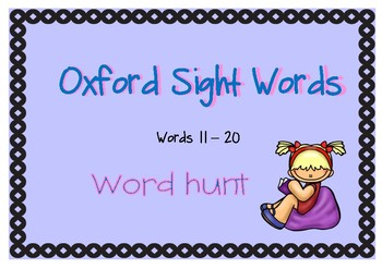 Oxford Sight Word Hunt (words 11-20)