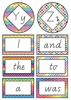 Oxford Sight Words 0-200 Word Wall Resouces Vic Modern Cursive Font