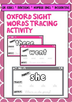 Oxford Sight Words 1 - 20 Tracing Map