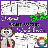 Oxford Sight Words Worksheets - Words 101-150