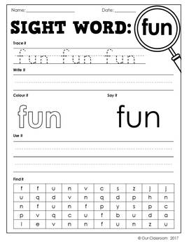 Oxford Sight Words Worksheets - Words 51-100