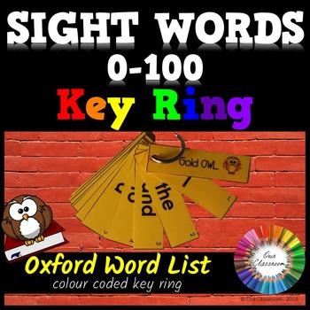 Oxford Sight Words 0-100 KEY RING
