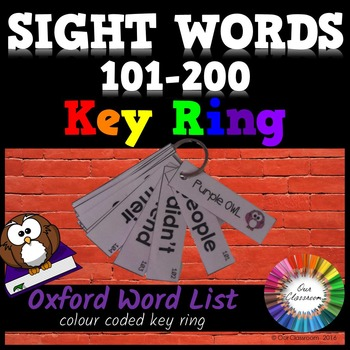 Sight Words 101-200 - Oxford Word List - KEY RING