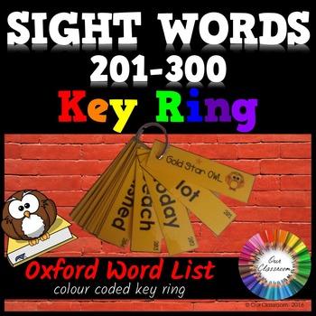 Oxford Sight Words 201-300 KEY RING