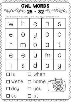 Oxford Sight Words - Word Searches