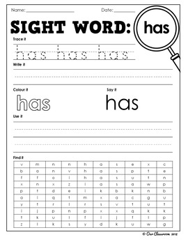 Oxford Sight Words Worksheets - Words 151-200