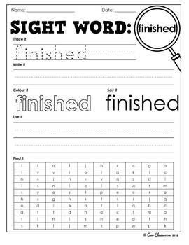 Oxford Sight Words worksheets - Words 201-250