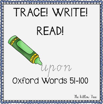 Sight Words Spelling Activities PACK 2 {TRACE, WRITE, READ}