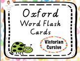 Oxford Word Flash Cards - Victorian Cursive