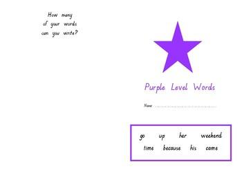 Oxford Word Fluency Sentences Purple Level