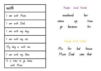 Oxford Word Fluency Sentences Yellow Level
