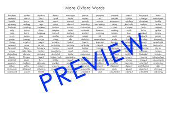 Oxford Word List