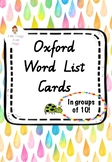 Oxford Word List Cards