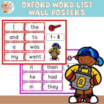 Oxford Word List Posters