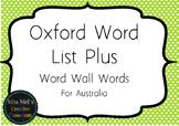 Oxford Word List Plus - Word Wall Words