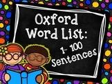Oxford Word List Sentences 1-100