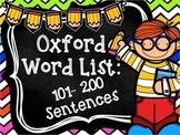 Oxford Word List Sentences 101-200