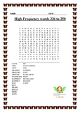 Oxford Word List Word Find 201-354