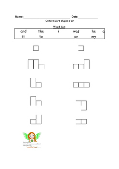 Oxford Word List Word Shapes 1-100