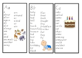 Oxford Word list booklet template (alphabetical order)