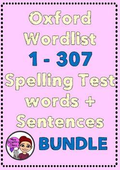 Oxford Wordlist 1 - 307 Words + Sentences BUNDLE!