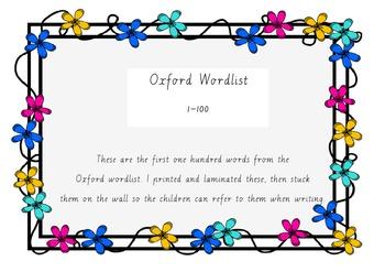 Oxford Wordlist (First 100 words).