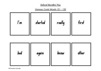 Oxford Wordlist Plus Flash Cards Set - Words 101 - 150 - M