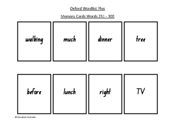 Oxford Wordlist Plus Flash Cards Set - Words 251 - 300 - M