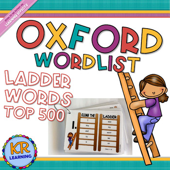"""Oxford Wordlist Top 500 """"Ladder Words"""" Assessment and Take Home Practise"""
