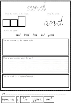 Sight Words Spelling Activities {TRACE, WRITE, READ}