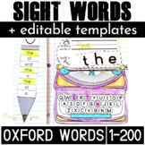 Sight Word Activities Oxford Words 200 Australian Curriculum+ EDITABLE Templates