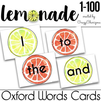 Oxford Words Practice - Lemonade 1-100