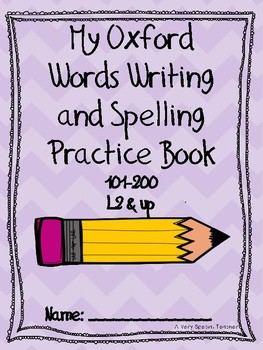 Oxford Words Writing and Spelling Practice Book 101-200 L2