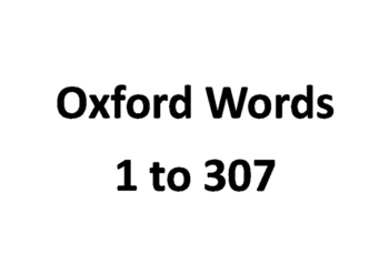 Oxford word list 1 to 307